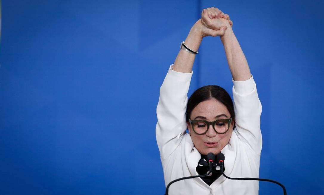 Regina Duarte não conseguiu emplacar suas ideias na Secretaria Especial da Cultura e anunciou que deixaria o cargo no dia 20 de maio Foto: Pablo Jacob / Pablo Jacob