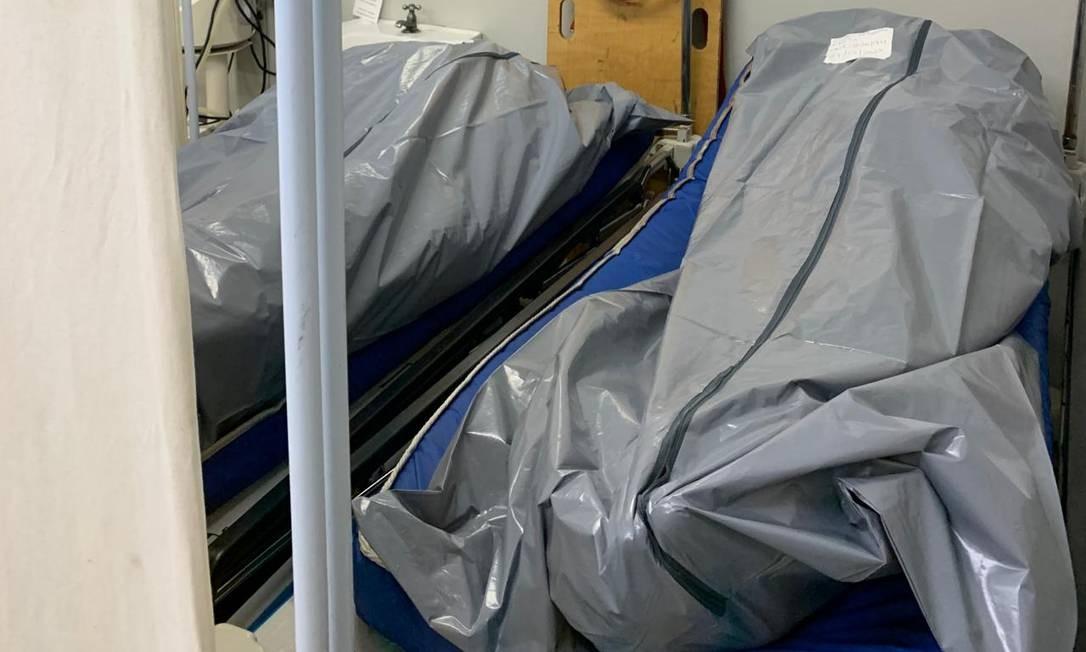 UPA da Maré tinha cinco corpos acumulados nesta segunda-feira Foto: Reprodução