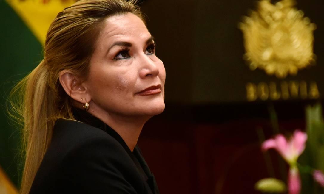 Jeanine Áñez, presidente interina da Bolívia Foto: ANDREA MARTÍNEZ / REUTERS/28-1-2020