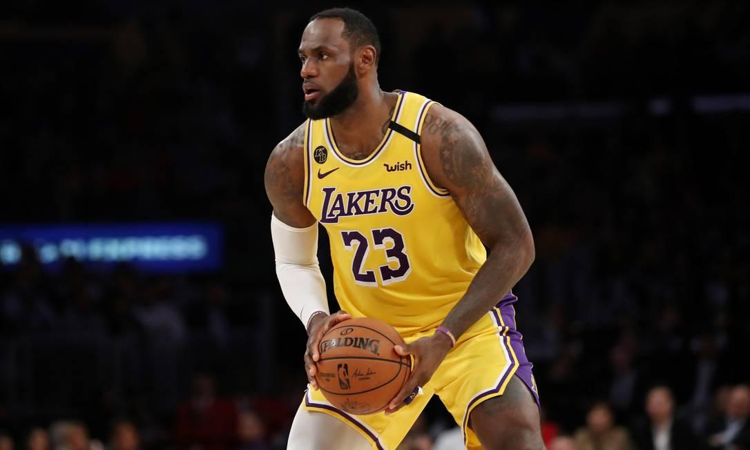LeBron James, dos Los Angeles Lakers, em foto de 5 de março de 2020 Foto: KATEYLN MULCAHY / AFP