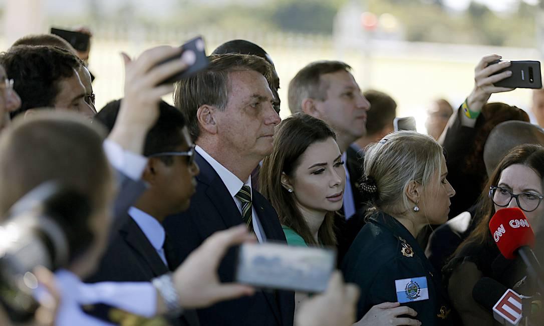 O presidente Jair Bolsonaro na saída do Palácio da Alvorada. Foto: Jorge William / Agência O Globo