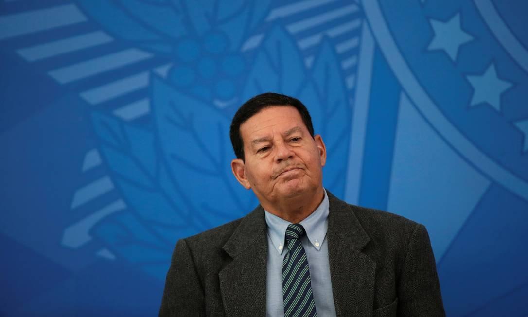 O vice-presidente Hamilton Mourão Foto: Ueslei Marcelino/Reuters