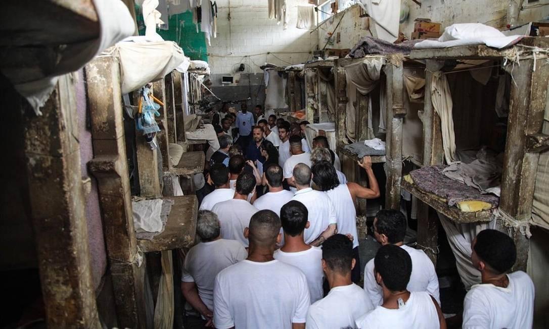 A Cadeia Pública Jorge Santana, em Bangu, é um dos 'centros penitenciários em piores condições em toda a América', de acordo com a Comissão Interamericana de Direitos Humanos (CIDH) Foto: Divulgação / Comissão Interamericana de Direitos Humanos (CIDH)/ Francisco Proner 12-11-2018