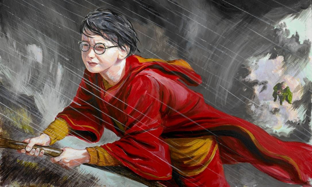 Harry Potter no traço do ilustrador Jim Kay, parta da exposição digital 'Harry Potter: A history of magic', parceria da British Library com Google Arts & Culture Foto: Reprodução