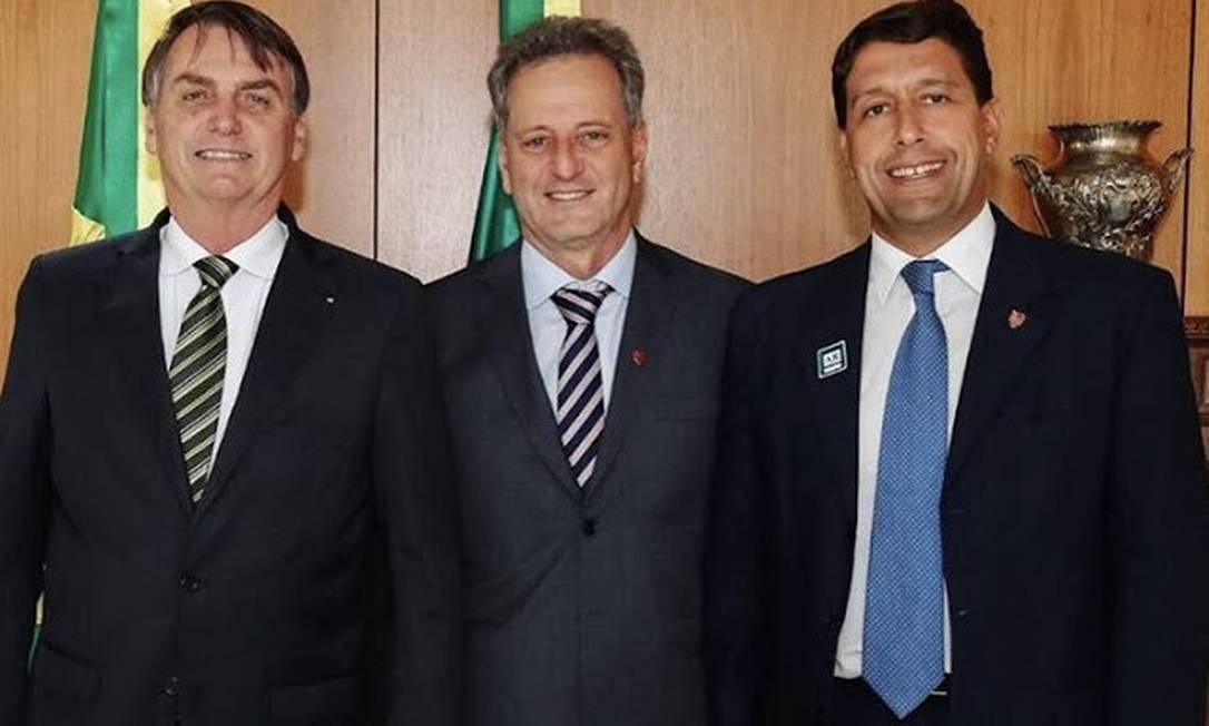 Presidente do Flamengo ao lado de Bolsonaro em 2019 Foto: Divulgação