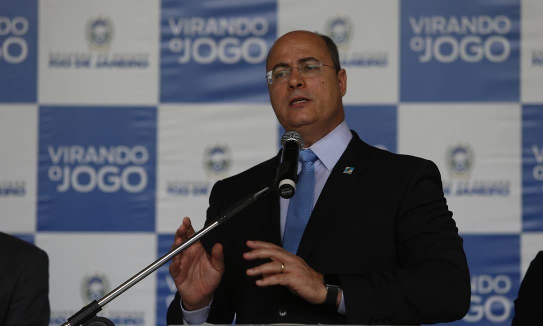 Governador do Rio de Janeiro, Wilson Witzel, está com coronavírus Foto: Fabiano Rocha / O Globo - 07.04.2020
