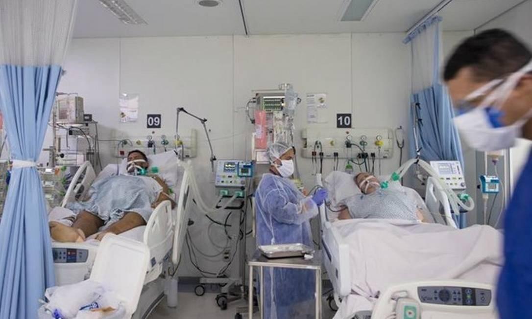 UTIs do estado de São Paulo tem quase 90% de ocupação por pacientes com coronavírus Foto: Edilson Dantas/1-4-2020