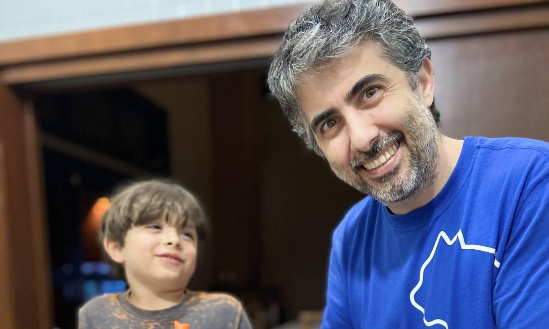 O chef do Rosita Pedro Castro Neves cuida do filho e o leva para a cozinha Foto: Acervo pessoal
