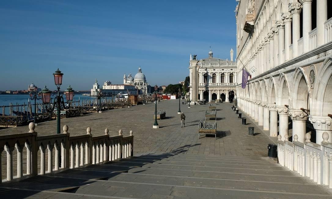 Veneza sem turistas durante a pandemia do novo coronavírus Foto: Manuel Silvestri / Reuters