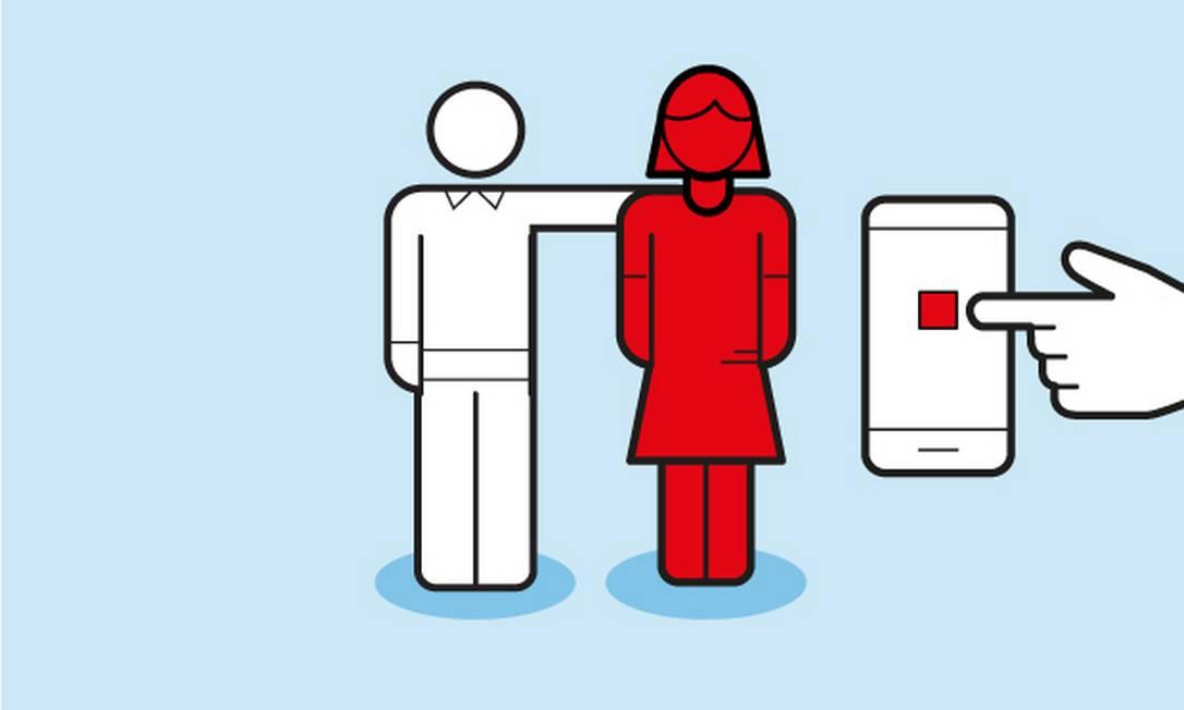 Violência contra a mulher Foto: Editoria de Arte