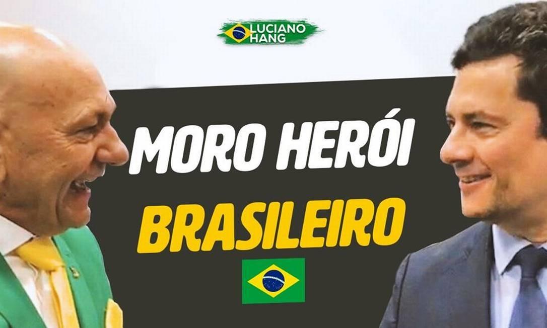 Luciano Hang publicou homenagem a Moro no dia da demissão e escreveu: 'O povo brasileiro estará sempre ao seu lado. Estamos juntos' Foto: Reprodução
