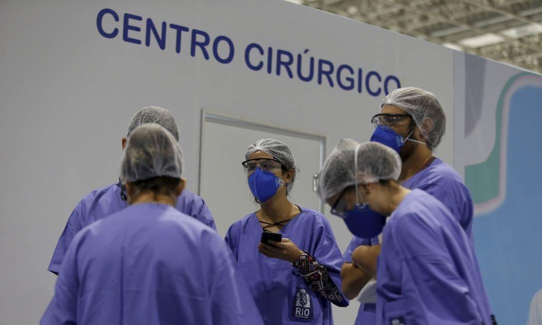 Hospital de campanha do Riocentro foi aberto com 100 dos 500 leitos prometidos Foto: fabiano rocha / Agência O Globo