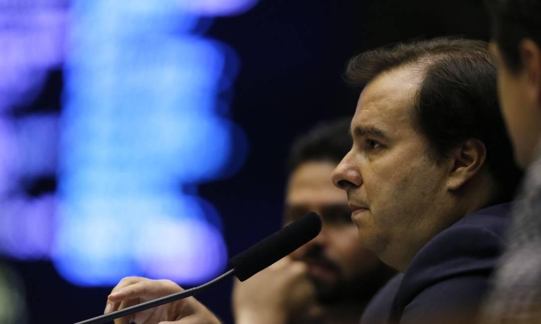 Rodrigo Maia (DEM-RJ), presidente da Câmara dos Deputados Foto: Jorge William / Agência O Globo