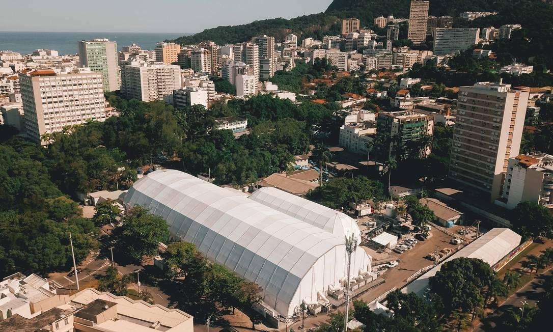 Hospital de Campanha do Leblon tem 200 leitos, com abertura escalonada Foto: Guilherme Leporace/Zimel Press / Agência O Globo