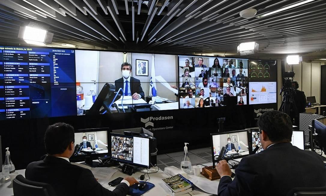 Sessão remota do Senado Federal. Foto: Leopoldo Silva / Agência O Globo