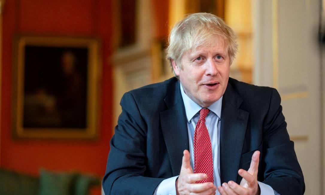 Boris Johnson fotografado no último dia 29 Foto: PIPPA FOWLES / AFP
