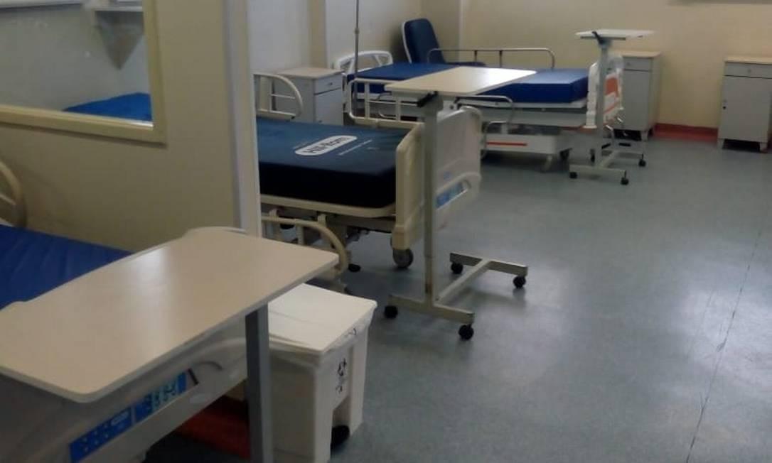 Leitos vazios no Hospital Federal de Bonsucesso Foto: Agência O Globo