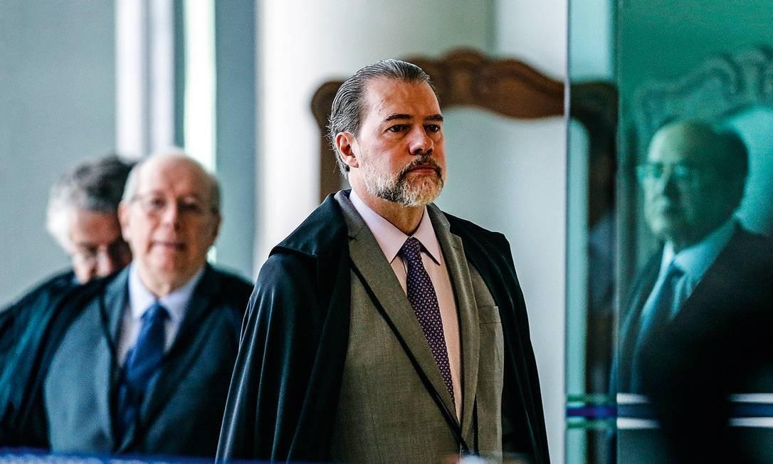 Toffoli e demais ministros observam flertes golpistas do presidente Foto: Arquivo / Agência O Globo