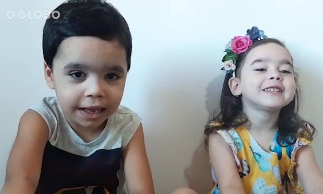 Crianças contam como estão vivendo na quarentena Foto: Reprodução