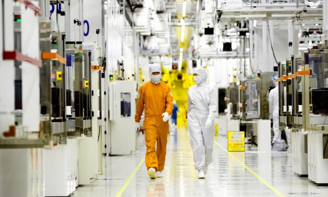 Fabrica da Samsung na Coreia Foto: Divulgacao