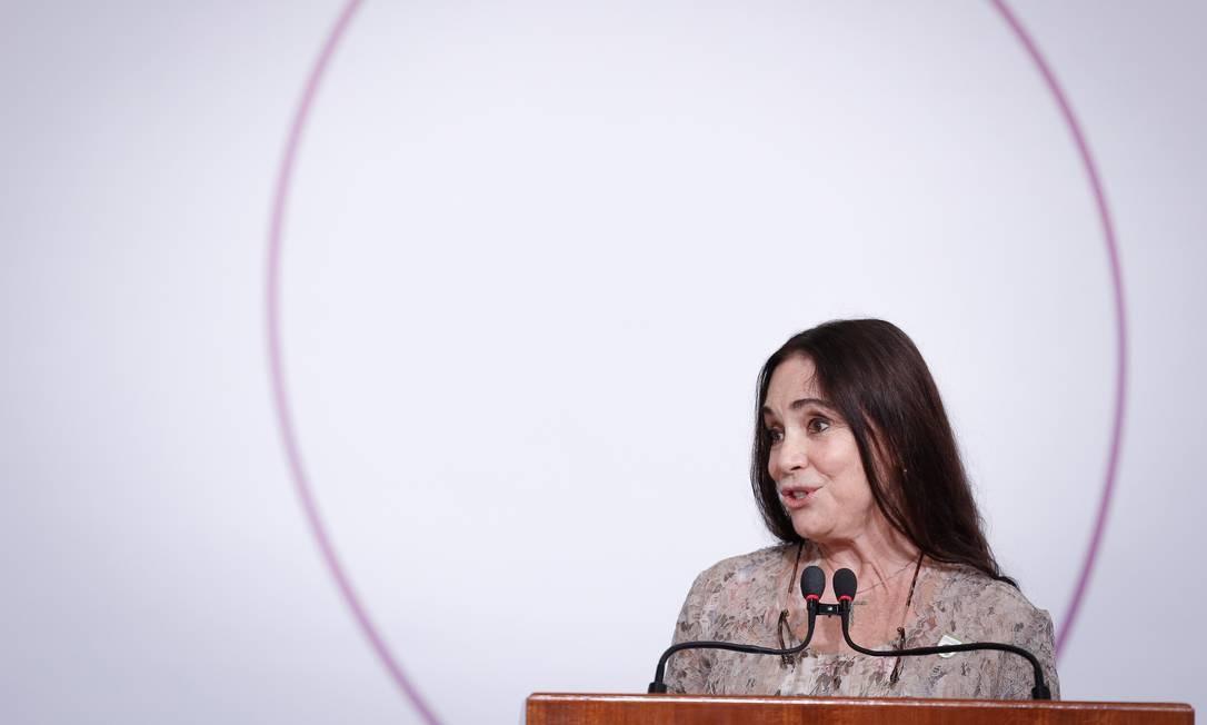 A secretária especial da Cultura, Regina Duarte Foto: Pablo Jacob / Agência O Globo