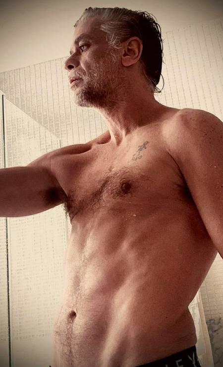 """""""Para o desespero de muitos, acordei assim..."""" disse o ator Fábio Assunção que recuperou rotina de exercícios físicos e alimentação adequada e Foto: Reprodução / Instagram"""
