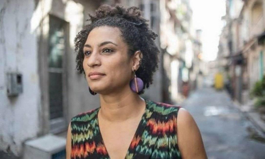 A vereadora Marielle Franco foi assassinada em março de 2018 junto ao motorista Anderson Gomes, numa emboscada no Estácio Foto: Agência O Globo Foto: Agência O Globo
