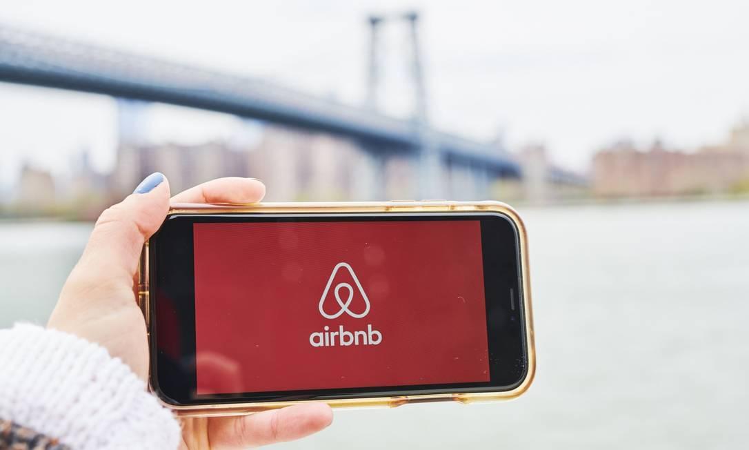Airbnb prevê que receitas deste ano serão menores que a metade do faturamento de 2019 Foto: Gabby Jones / Bloomberg