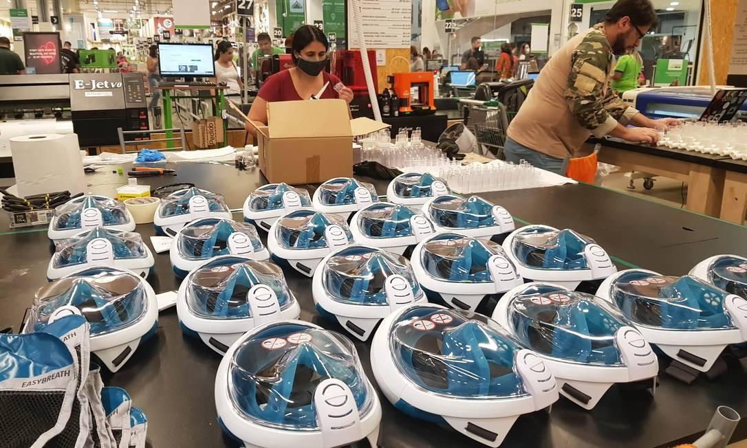 Ao todo, 2.200 máscaras adaptadas serão doadas Foto: Divulgação