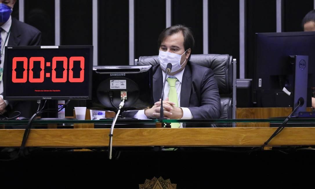 O presidente da Câmara, Rodrigo Maia Foto: Najara Araujo / Câmara dos Deputados