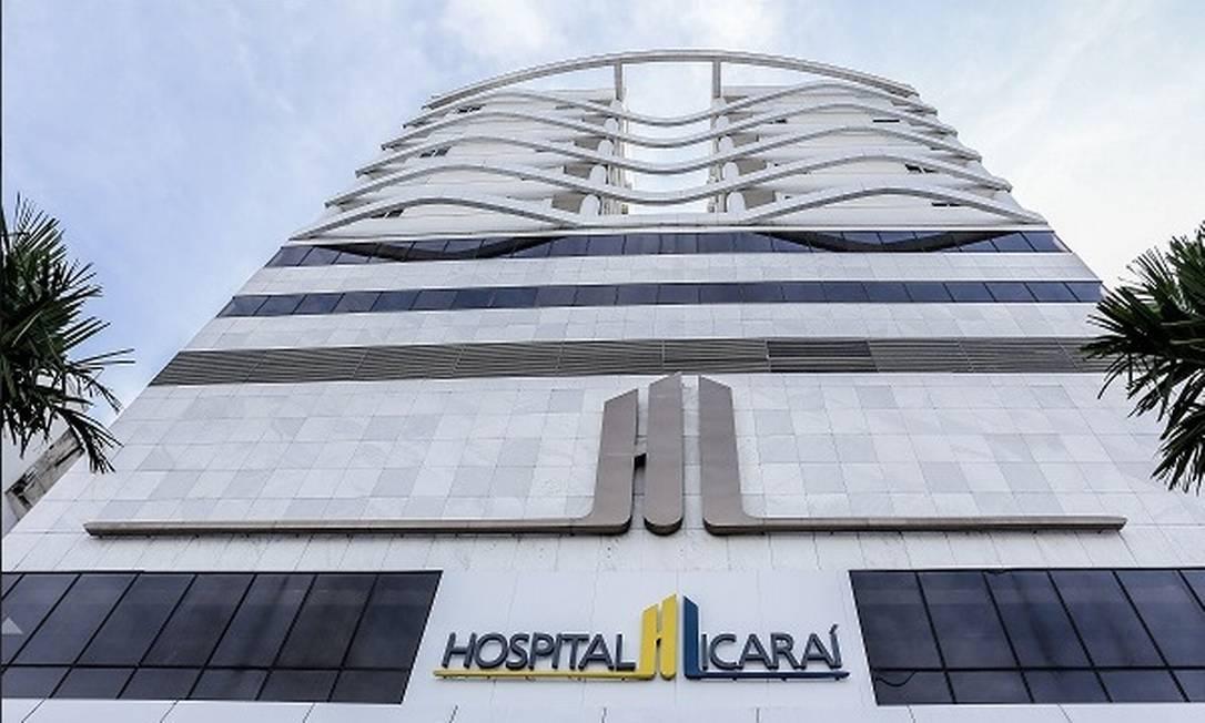 Fachada do Hospital Icaraí, um dos hospitais da rede privada da cidade Foto: Reprodução/Internet