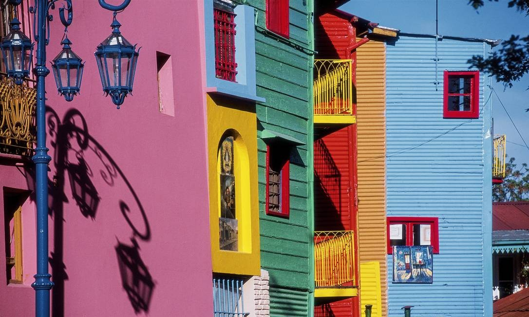 Casas colidas da região do Caminito, no bairro La Boca, em Buenos Aires Foto: Turismo de Buenos Aires / Divulgação
