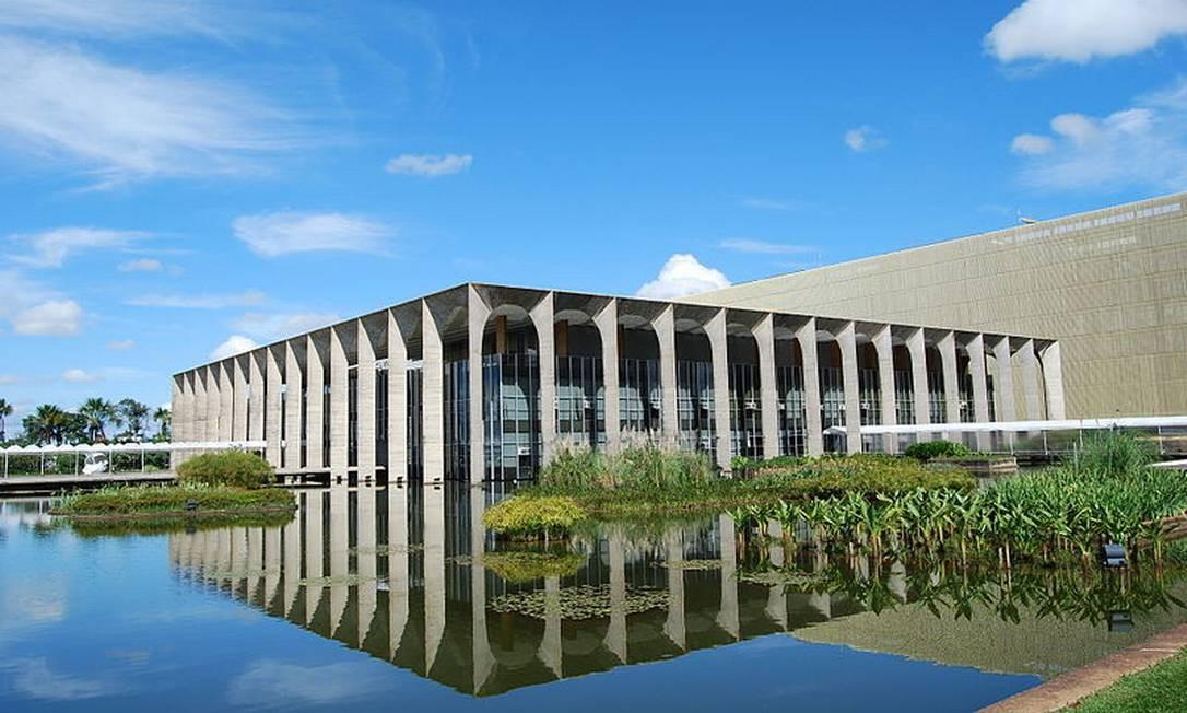 O Palácio do Itamaraty, em Brasília Foto: Reprodoução MRE