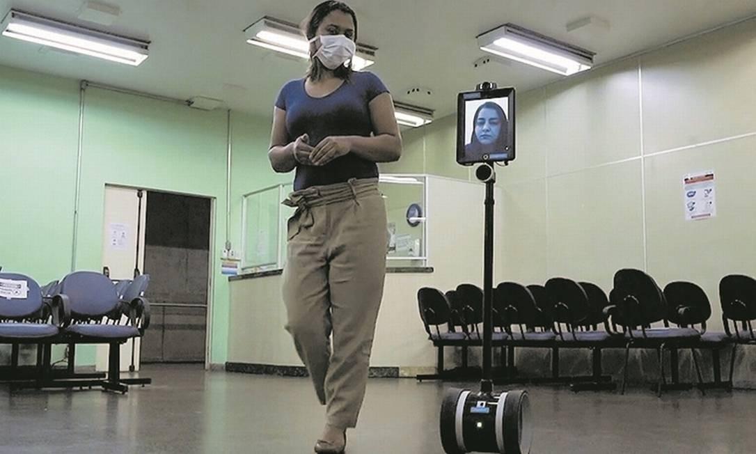 Hospital das Clínicas em São Paulo usa robôs na luta contra o coronavírus Foto: Divulgação