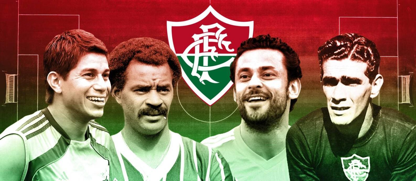 Os 30 maiores ídolos da história do Fluminense Foto: Editoria de Arte