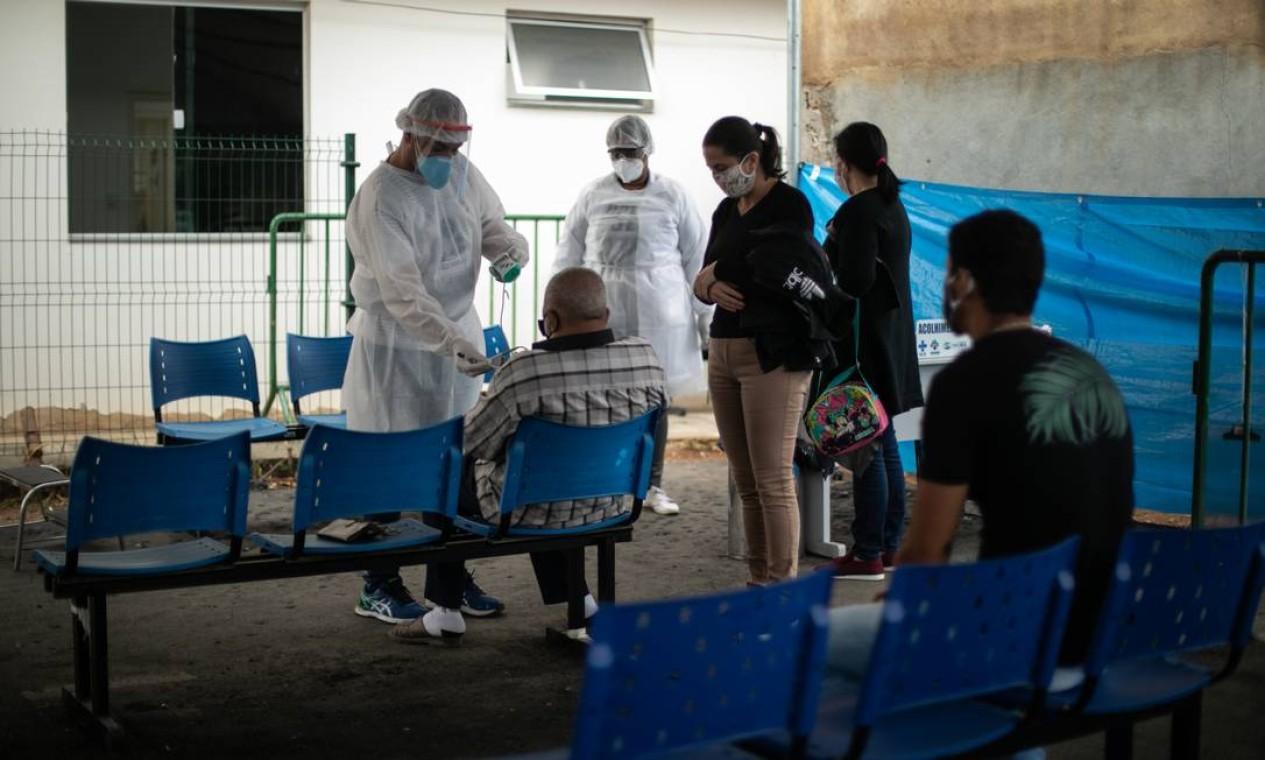 Posto de atendimento da Covid-19 na cidade de Três Rios Foto: Brenno Carvalho / Agência O Globo