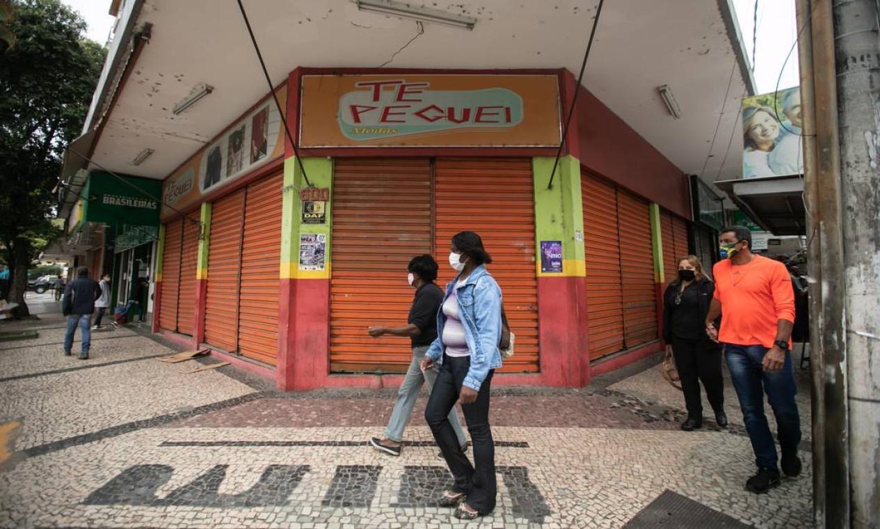Sapucaia, com 18,2 mil habitantes, tem 37 casos e três óbitos confirmados pela Covid-19. Interiorização da pandemia no Rio supera outros estados, como São Paulo (59% dos municípios afetados) e Minas (25%) Foto: Brenno Carvalho / Agência O Globo