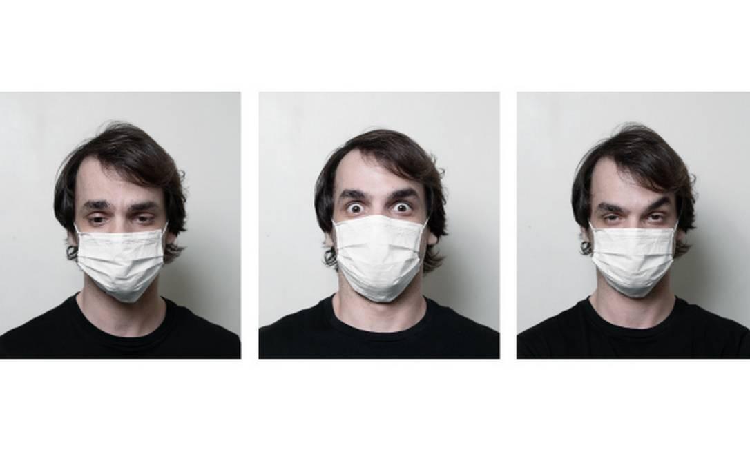 Aqui, Saulo Segreto interpreta tristeza, medo e desprezo Foto: Leo Martins / Agência O GLOBO