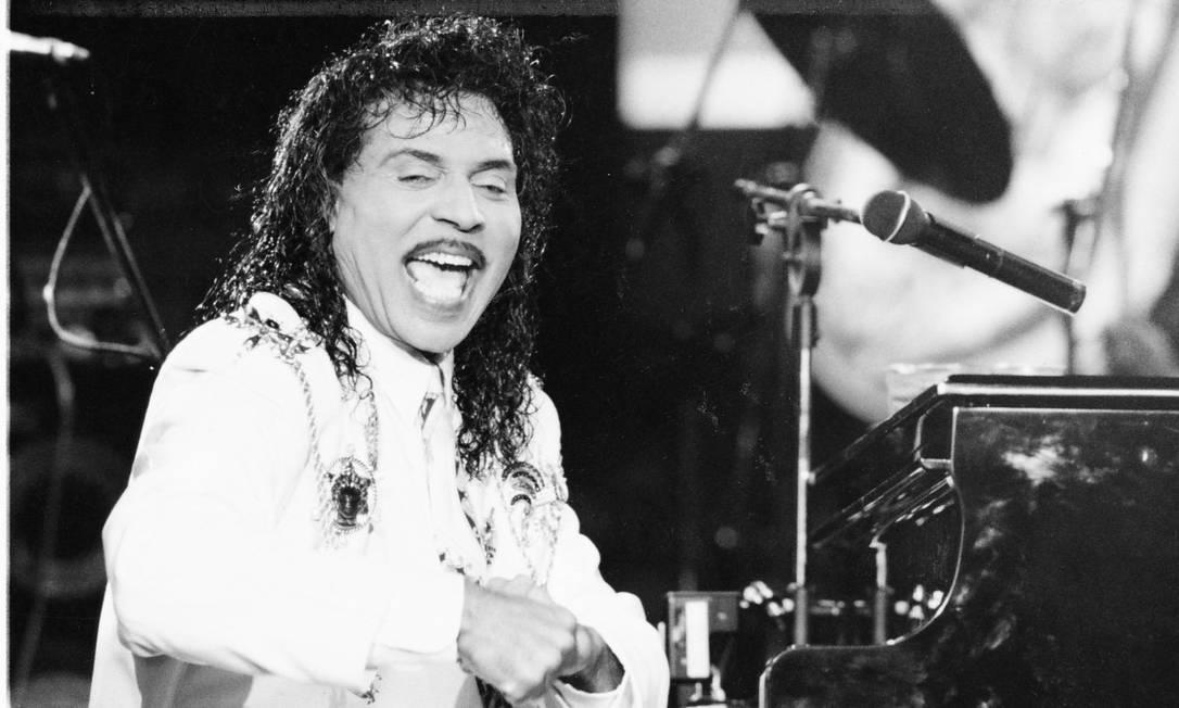 Richard esteve no Brasil para participar do Free Jazz Festival, no Rio de Janeiro, no começo dos anos 1990 Foto: Ivo Gonzalez / Agência O Globo - 28/09/1993