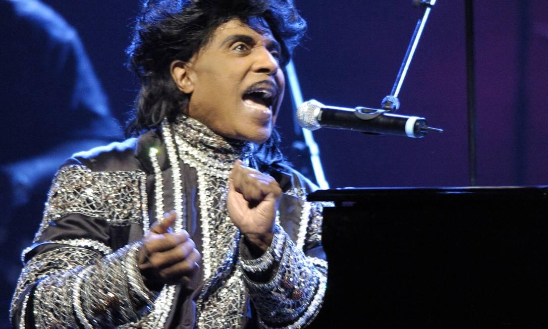 Foto de arquivo mostra o cantor Little Richard no palco do Olympia de París, em 2005 Foto: STEPHANE DE SAKUTIN / AFP - 07/06/2005