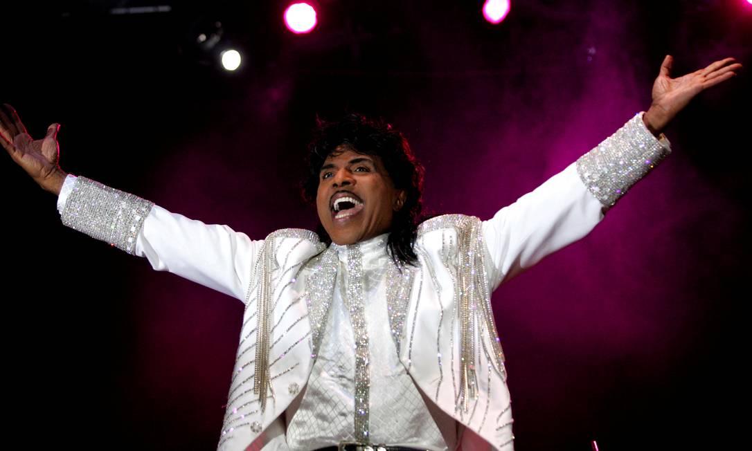 Little Richard se apresentou no festival Crossroad, em Gijon, norte da Espanha Foto: Eloy Alonso / REUTERS - 23/07/2005