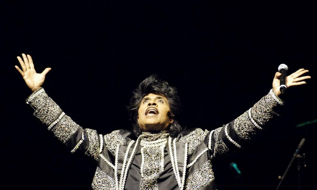 Little Richard em um show em Paris, em 2005 Foto: STEPHANE DE SAKUTIN / AFP