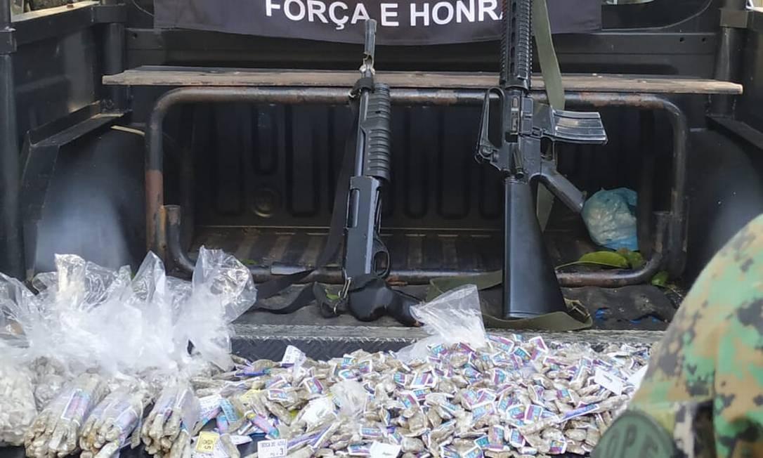 Armas apreendidas durante operação Foto: Divulgação