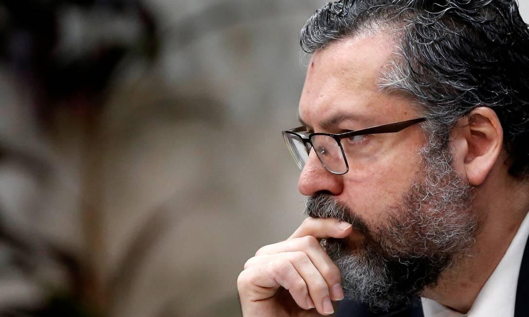 O ministro das Relações Exteriores, Ernesto Araújo Foto: ADRIANO MACHADO / Reuters