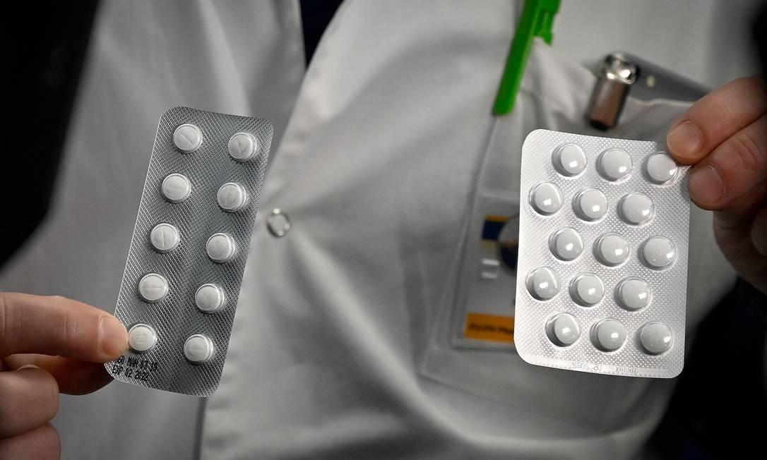 Medicamentos usados no tratamento da Covid-19 Foto: GERARD JULIEN / AFP
