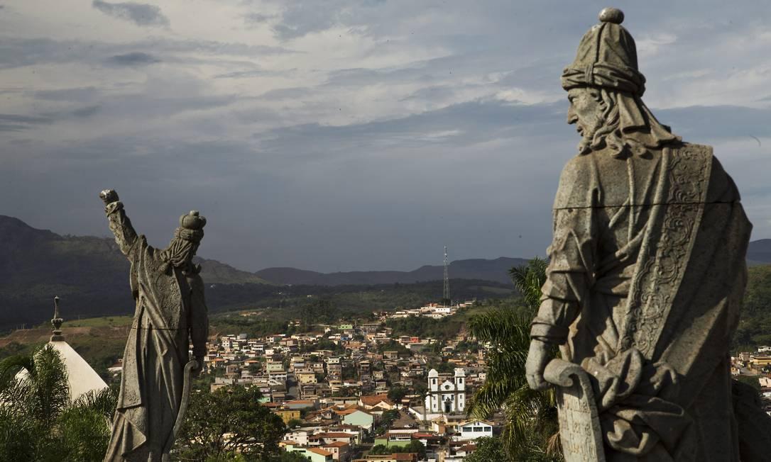 Profetas de Aleijadinho no Santuário de Bom Jesus de Matosinhos, em Congonhas (MG), tombado pelo Iphan como patrimônio histórico Foto: Guito Moreto