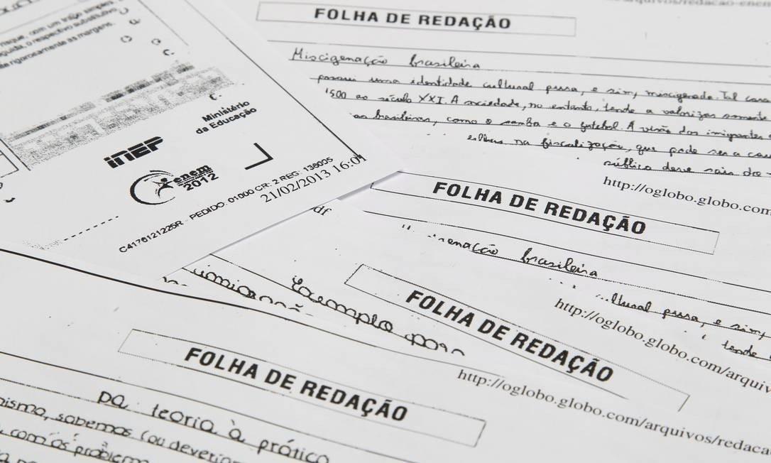 Provas do Enem 2020 foram adiadas por causa da pandemia do coronavírus no país Foto: Marcelo Carnaval/Agência O Globo