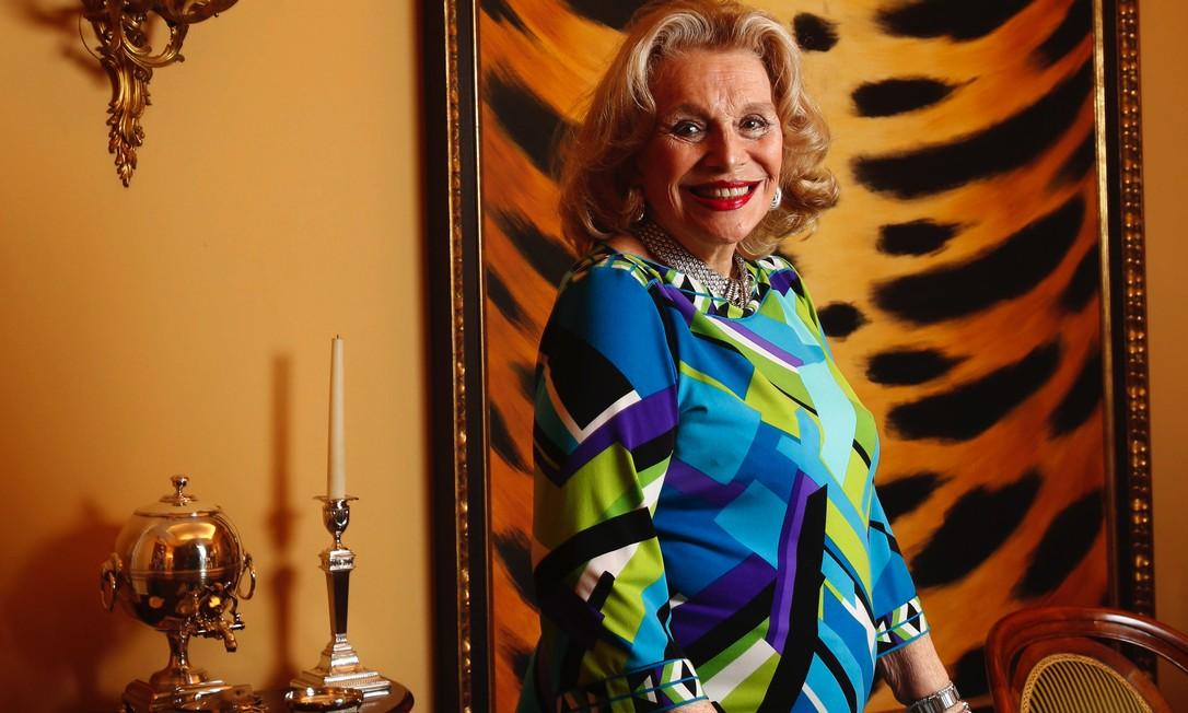 Lourdes Catão: figura conhecida da alta sociedade carioca morreu aos 93 anos, vítima da Covid-19 Foto: Camilla Maia / Agência O GLOBO