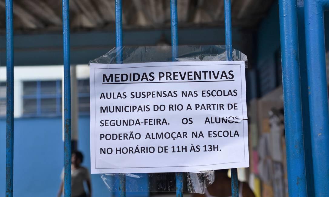 Fechamento das escolas pela pandemia de Covid-19 gera pedidos de adiamento do Enem Foto: Jorge Hely / Agência O Globo