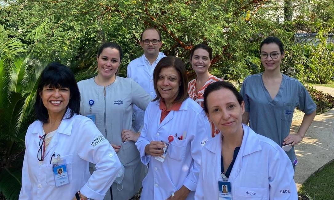 Equipe de cuidados paliativos do Hospital Quinta D'Or Foto: Divulgação